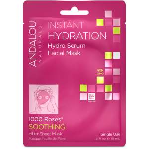Instant Hydration Hydro Serum Facial Mask, 1000 Roses Soothing by Andalou Naturals