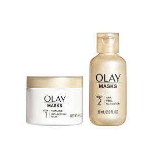 2-Step Vitamin C Mask + AHA Resurfacing Peel Kit (combined) by Olay