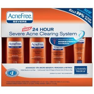24 Hour Severe Acne Clearing System (Anti-Acne Cleansing Wash) by AcneFree