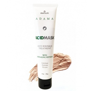 Adama Glycolic Acid Mask Anti-Wrinkle Treatment with Anti-Aging Peptides by Zion Health