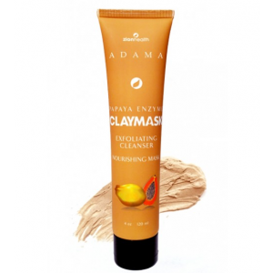 Adama Papaya Enzyme Clay Mask Exfoliating Cleanser Nourishing Mask by Zion Health