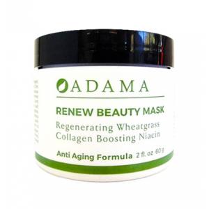 Adama Renew Beauty Mask with Regenerating Wheatgrass Collagen Boosting Niacin by Zion Health