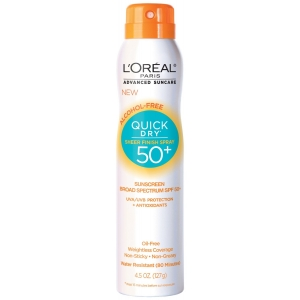 Advanced Suncare Quick Dry Sheer Finish Spray SPF 50 by L'Oreal Paris