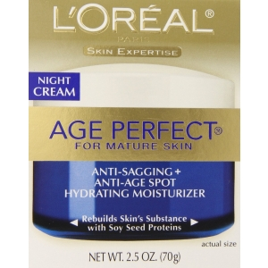 Age Perfect Anti-Sagging + Anti-Age Spot Hydrating Moisturizer Night Cream by L'Oreal Paris