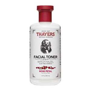 Alcohol-Free Rose Petal Witch Hazel Facial Toner by Thayers