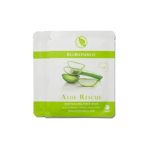 Aloe Rescue Revitalizing Fiber Mask Set by BioRepublic Skincare