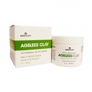 Anti-Wrinkle Ageless Clay Mega Moisturizer Active Fruit Peptides by Zion Health