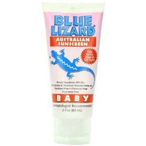 Baby Lizard Australian Sunscreen SPF 30+ Chemical Free Fragrance Free by Blue Lizard