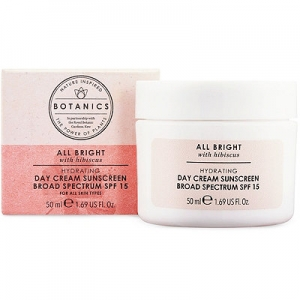 Botanics All Bright Hydrating Day Cream Sunscreen Broad Spectrum SPF 15 by Boots