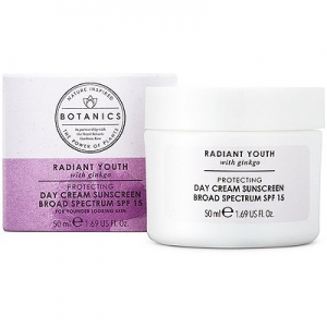 Botanics Radiant Youth Protecting Day Cream Sunscreen Broad Spectrum SPF 15 by Boots