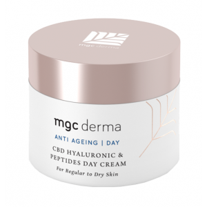 CBD Hyaluronic & Peptides Day Cream, Regular to Dry Skin by MGC Derma