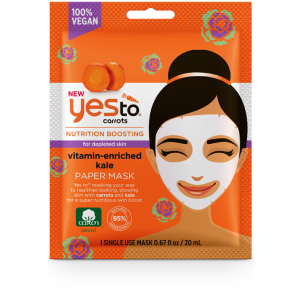Carrots Nutrition Boosting Vitamin-Enriched Kale Paper Mask by Yes To