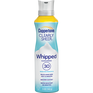 Clearly Sheer Whipped Sunscreen Broad Spectrum SPF 30 by Coppertone