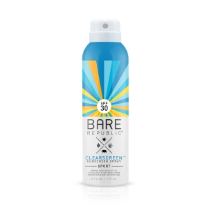 Clearscreen SPF 30 Sport Sunscreen Spray by Bare Republic
