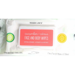 Cucumber and Citrus Face and Body Wipes by Trader Joe's