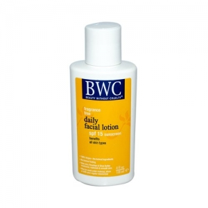 Daily Facial Lotion SPF-15, Fragrance Free by Beauty Without Cruelty