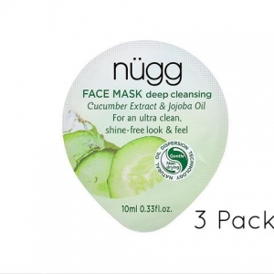 Deep Cleansing Face Mask 3-Pack - Cucumber Extract & Jojoba Oil by nügg Beauty