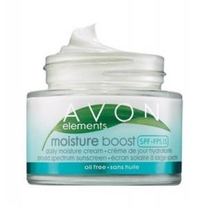 Elements Moisture Boost Daily Moisture Cream Broad Spectrum SPF 15 Oil-Free by Avon
