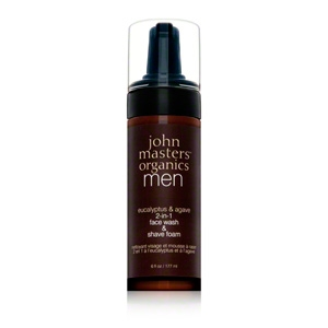 Eucalyptus and Agave 2 In 1 Face Wash and Shave Foam by John Masters Organics