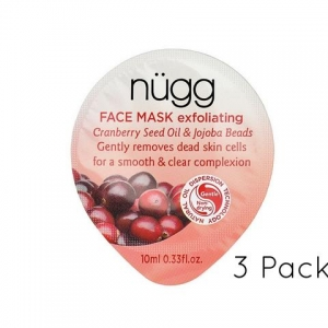 Exfoliating Face Mask 3-Pack - Cranberry Seed Oil & Jojoba Beads by nügg Beauty