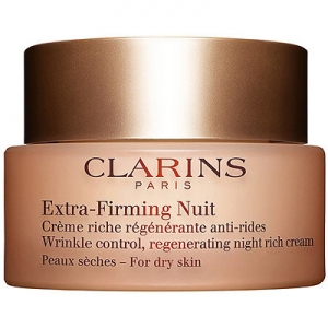 Extra-Firming Wrinkle Control Regenerating Night Rich Cream, For Dry Skin by Clarins