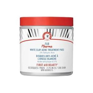 FAB Pharma White Clay Acne Treatment Pads 2% Salicylic Acid by First Aid Beauty
