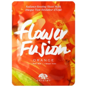 Flower Fusion Orange Radiance-Boosting Sheet Mask by Origins