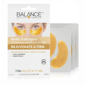 Gold Collagen Hydrogel Under Eye Masks by Balance Active Formula