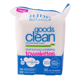 Good & Clean Dual Textured Exfoliating Towelettes by Alba Botanica