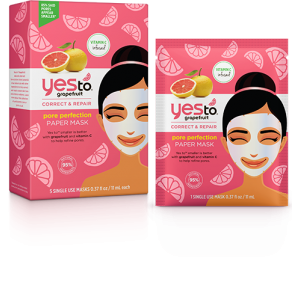 Grapefruit Correct & Repair Pore Perfection Paper Mask by Yes To