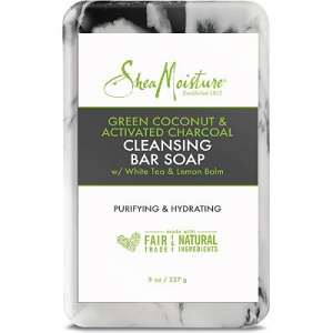 Green Coconut & Activated Charcoal Cleansing Bar w/White Tea & Lemon Balm by Shea Moisture