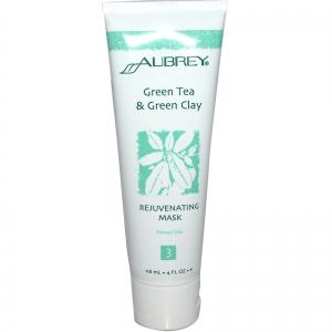 Green Tea & Green Clay Rejuvenating Mask, for Normal Skin by Aubrey Organics