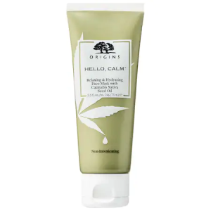 Hello, Calm Relaxing & Hydrating Face Mask with Cannabis Sativa Seed Oil by Origins