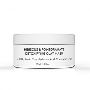 Hibiscus & Pomegranate Detoxifying Kaolin Clay Mask by Holy Grail Beauty Co.