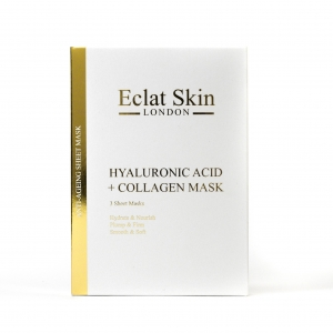 Hyaluronic Acid & Collagen Sheet Masks by Eclat Skin London