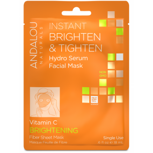 Instant Brighten & Tighten Hydro Serum Facial Mask, Vitamin C Brightening by Andalou Naturals