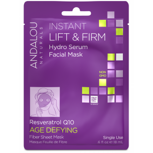 Instant Lift & Firm Hydro Serum Facial Mask, Resveratrol Q10 Age Defying by Andalou Naturals