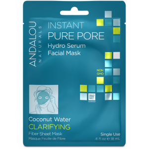 Instant Pure Pore Hydro Serum Facial Mask, Coconut Water Clarifying by Andalou Naturals