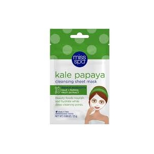 Kale Papaya Cleansing Facial Sheet Mask by Miss Spa