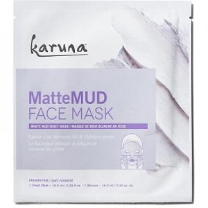 MatteMud Face Mask White Mud Sheet Mask by Karuna