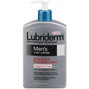 Men's 3-in-1 Lotion Fragrance Free by Lubriderm for Men