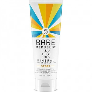 Mineral SPF 50 Sport Sunscreen Lotion by Bare Republic