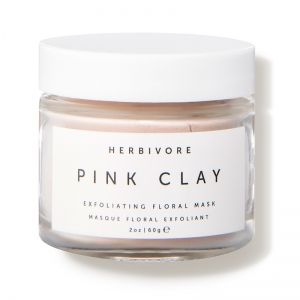 Pink Clay Exfoliating Floral Mask by Herbivore Botanicals