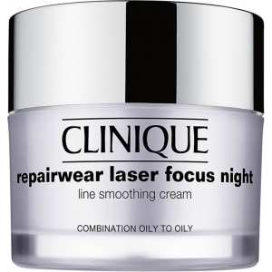 Repairwear Laser Focus Night Line Smoothing Cream, Combination Oily to Oily by Clinique