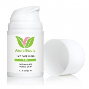 Retinol Cream For Face 2.5% With Hyaluronic Acid & Vitamins E & B5 by Amara Beauty