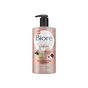 Rose Quartz + Charcoal Daily Purifying Cleanser by Bioré