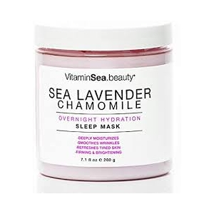 Sea Lavender Chamomile Overnight Hydration Sleep Mask by Vitaminsea Beauty