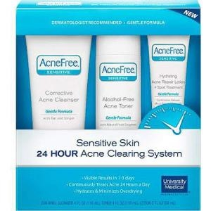 Sensitive Skin 24 Hour Acne Clearing System (Corrective Acne Cleanser) by AcneFree