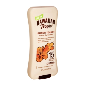 Sheer Touch Lotion Sunscreen Broad Spectrum SPF 15 by Hawaiian Tropic