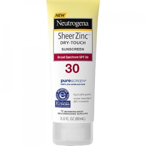 Sheer Zinc Dry-Touch Sunscreen Broad Spectrum SPF 30 by Neutrogena